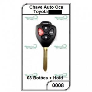 Chave Gaveta Toyota SW4 3 Botões + Hold Oca - 0008