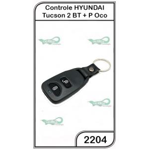 Controle Hyundai Tucson  2 Botões Oco - 2204