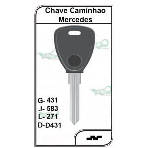 Chave Caminhão PVC Mercedes Bens G 431 - 431PVC - PACOTE COM 5 UNIDADES
