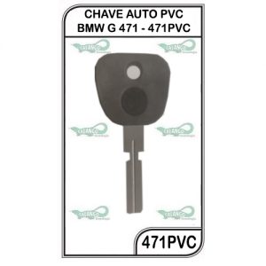 CHAVE AUTO PVC BMW G 471 - 471PVC - PACOTE COM 5 UNIDADES