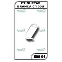 ETIQUETAS BRANCA C/100UN. - 500-01