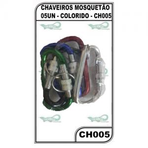 CHAVEIROS MOSQUETÃO 05UN - COLORIDO - CH005