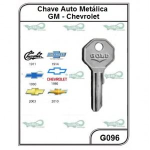 Chave Auto Metálica GM Chevrolet G 096 - G096