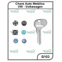 Chave Auto Metálica VW G 103 - G103
