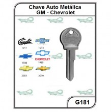 Chave Auto Metálica GM Opalla G 181 - G181