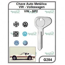 Chave Auto Metálica VW SP2 G 284 - G284