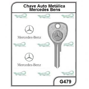 Chave Auto Metálica Mercedes Ellen G 479 - G479 - PACOTE COM 5 UNIDADES
