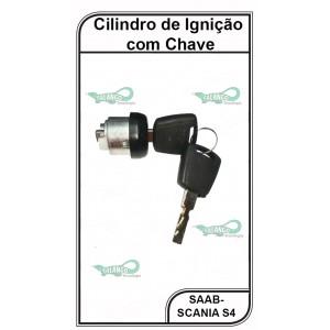 Cilindro de Ignição Saab-Scania Série 4 e 5 com Chave - AT5035