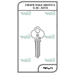 Chave Yale Arouca G 26 - AUC4 - PACOTE COM 5 UNIDADES