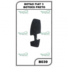 BOTAO FIAT 3 BOTOES PRETO - B039