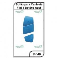 Botão para Canivete Fiat 3 Botões Azul - B040