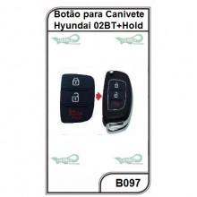 Botão para Canivete Hyundai 2 Botões + Hold - B097