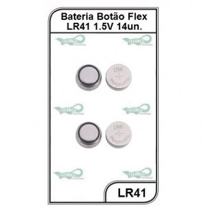 Bateria Flex LR41 1,5V 14 unidades - LR41