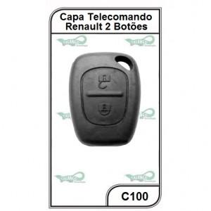 Capa Telecomando Renault 2 Botões - C100