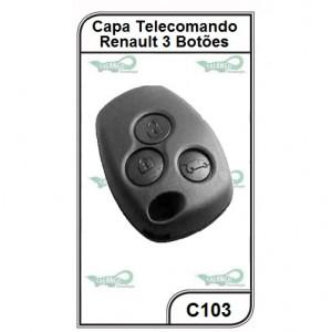 Capa Telecomando Renault 3 Botões - C103
