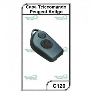 Capa Telecomando Peugeot Antiga 2 Botões - C120