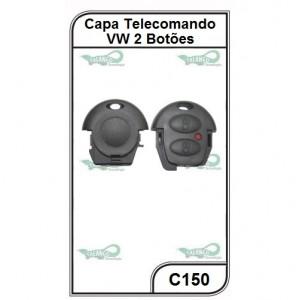 Capa e Contra Capa Oca VW Fox, Spacefox, Crossfox 2 Botões - C150