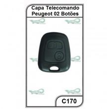 Capa Telecomando Peugeot 2 Botões - C170