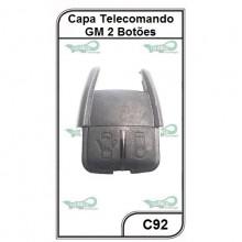 Capa Telecomando GM Astra, Corsa, Vectra, Zafira, S10 2 Botões - C92