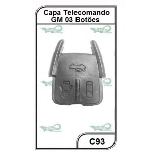 Capa Telecomando GM Astra, Corsa, Vectra, Zafira, S10 3 Botões - C93
