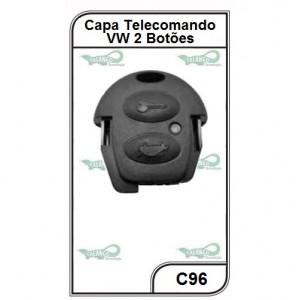 Capa Telecomando VW Fox, Voyage, Santana, Saveiro 2 Botões - C96