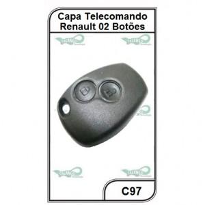 Capa Telecomando Renault 2 Botões - C97