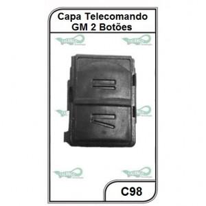 Capa Telecomando GM Meriva, Novo Corsa e Vectra GT 2 Botões - C98