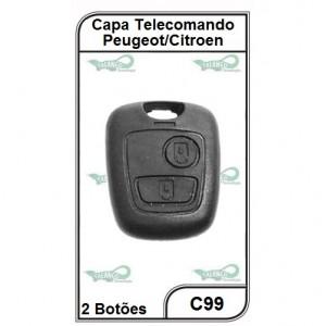 Capa Telecomando Peugeot/Citroen 2 Botões - C99