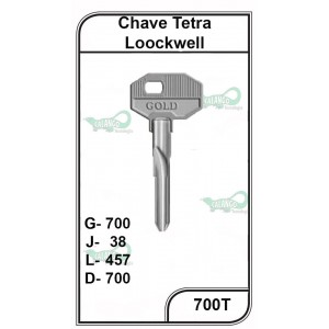 Chave Tetra Loockwell G 700 - 700T