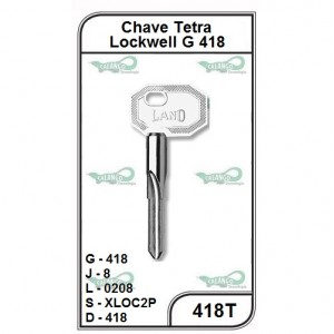 Chave Tetra Lockwell G 418 - 418T