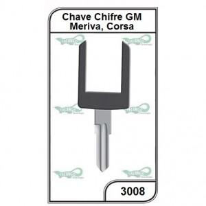 Chave Chifre GM Meriva Corsa - 3008
