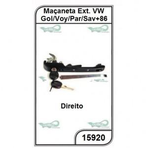 Maçaneta VW Gol, Voyage, Parati e Saveiro 86 Direito - 15920