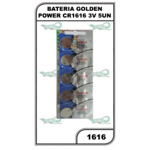 BATERIA GOLDEN POWER CR1616 3V 5UN - 1616