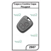 Capa e Contra Capa Peugeot 2 Botões - 2987