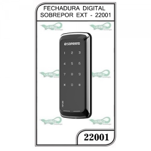 FECHADURA DIGITAL SOBREPOR EXT - 22001