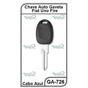 Chave Gaveta Fiat Uno Fire com Tampa - Azul - GA-726