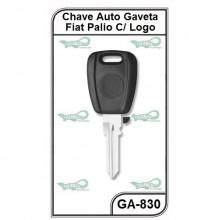 Chave Gaveta Fiat Palio, Siena e Strada Com Logo Cabeça Azul - GA-830