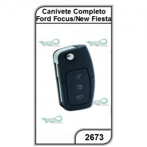 Canivete Ford Focus e New Fiesta 03 Botões Completo - 2673