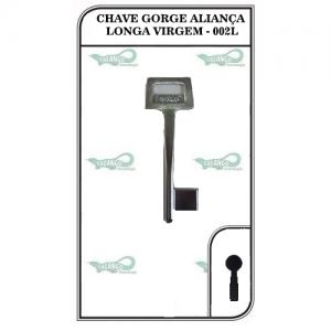 CHAVE GORJE ALIANÇA LONGA VIRGEM - 002L - PACOTE COM 5 UNIDADES