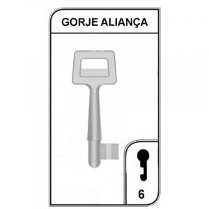 Chave Gorje Aliança Nº6 - 006-08 - PACOTE COM 5 UNIDADES