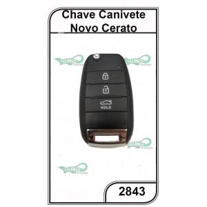 Canivete Oco Kia Novo Cerato 3 Botões - 2843