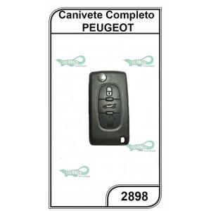 Canivete Completo Peugeot 3 Botões - 2898