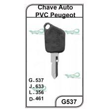 Chave Auto PVC Peugeot G 537 - 537PVC