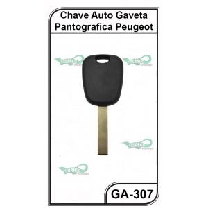 Chave Gaveta Peugeot 307 Pantografica G 58 - GA-307