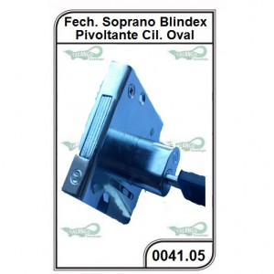 Fechadura Soprano Blindex Pivotante Cilindro Oval - 0041.05