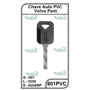 Chave Auto PVC Volvo Pantográfica G 601 - 601PVC