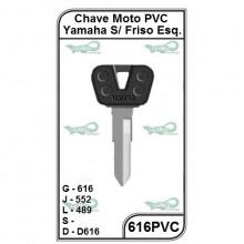 Chave Moto PVC Yamaha S/ Friso Esquerdo G 616 - 616PVC