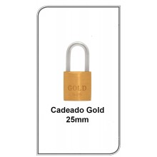 Cadeado Gold 25mm  G-25mm
