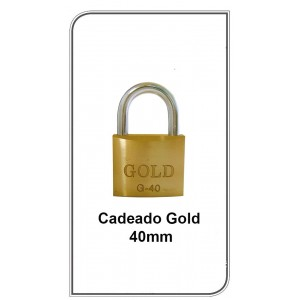 Cadeado Gold 40mm  G-40mm