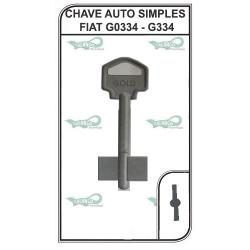 CHAVE AUTO SIMPLES FIAT G0334 - G334 - PACOTE COM 5 UNIDADES